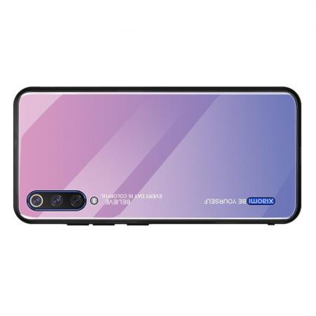 Силиконовый Стеклянный Светло Розовый Градиентный Корпус Чехол для Телефона Xiaomi Mi A3