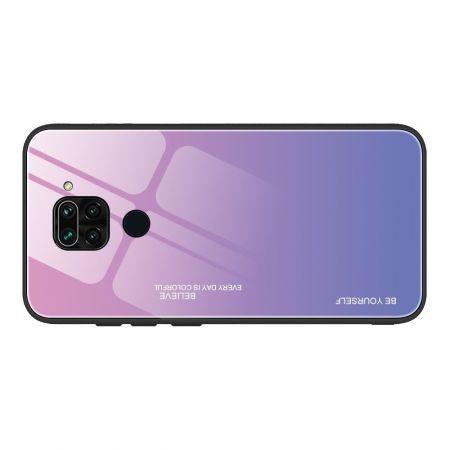 Силиконовый Стеклянный Светло Розовый Градиентный Корпус Чехол для Телефона Xiaomi Redmi Note 9 Pro / 9S / Note 9