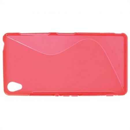 Силиконовый Защитный S-line Бампер для Sony Xperia Z3 Красный