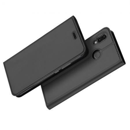 Тонкий Флип Чехол Книжка с Скрытым Магнитом и Отделением для Карты для Huawei P20 lite Черный