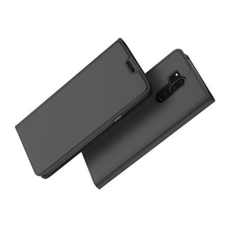 Тонкий Флип Чехол Книжка с Скрытым Магнитом и Отделением для Карты для LG G7 ThinQ Черный