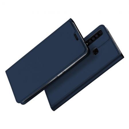 Тонкий Флип Чехол Книжка с Скрытым Магнитом и Отделением для Карты для Samsung Galaxy A9 2018 SM-A920F Синий