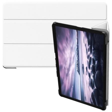 Тонкий Флип Чехол Книжка с Скрытом Магнитом для Samsung Galaxy Tab A 10.5 SM-T595 SM-T590 Белый