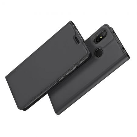 Тонкий Флип Чехол Книжка с Скрытым Магнитом и Отделением для Карты для Xiaomi Mi A2 Lite / Redmi 6 Pro Черный