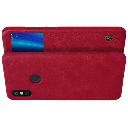 Тонкий Флип NILLKIN Qin Чехол Книжка для Xiaomi Mi A2 / Mi 6X Красный