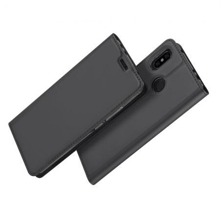 Тонкий Флип Чехол Книжка с Скрытым Магнитом и Отделением для Карты для Xiaomi Redmi Note 6 / Note 6 Pro Черный