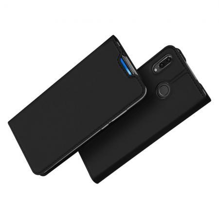 Тонкий Флип Чехол Книжка с Скрытым Магнитом и Отделением для Карты для Huawei Nova 5T Черный