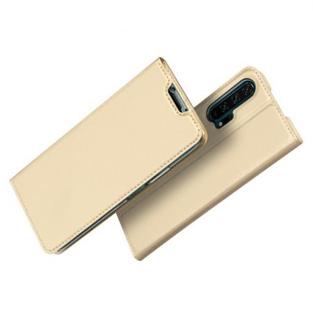 DUX DUCIS Тонкий Флип Чехол Книжка с Скрытым Магнитом и Отделением для Карты для Huawei Nova 5T Золотой