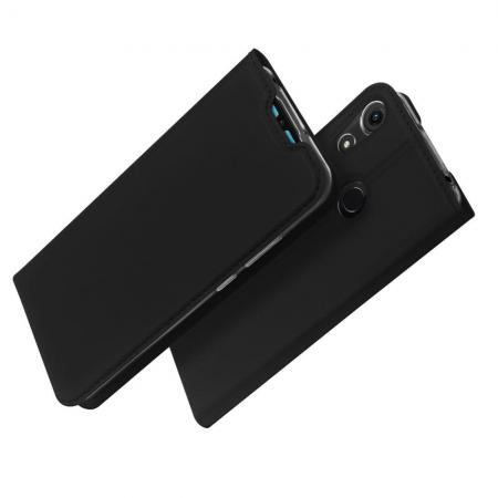 Тонкий Флип Чехол Книжка с Скрытым Магнитом и Отделением для Карты для Huawei Honor 8A Черный