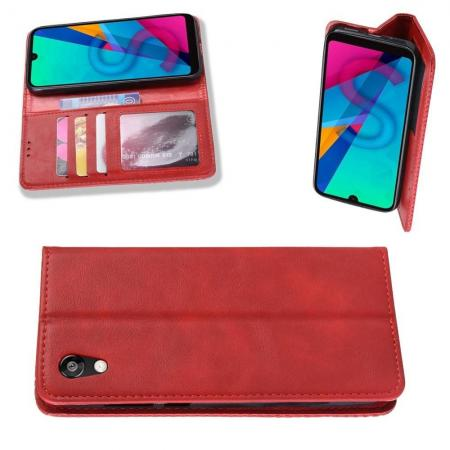 Тонкий Флип Чехол Книжка с Скрытым Магнитом и Отделением для Карты для Huawei Honor 8S / Y5 2019 Красный