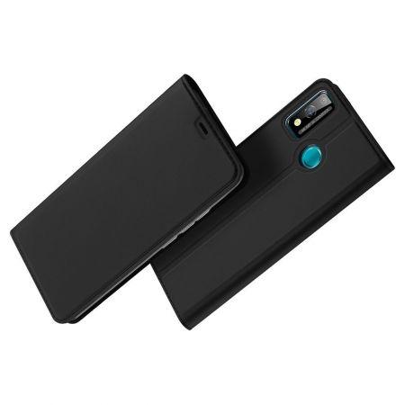 Тонкий Флип Чехол Книжка с Скрытым Магнитом и Отделением для Карты для Huawei Honor 9X Lite Черный
