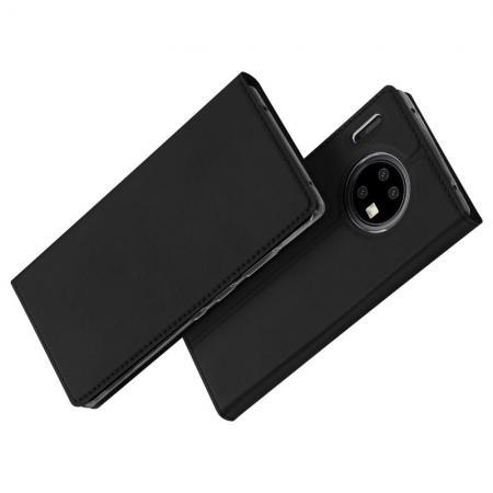 Тонкий Флип Чехол Книжка с Скрытым Магнитом и Отделением для Карты для Huawei Mate 30 Pro Черный