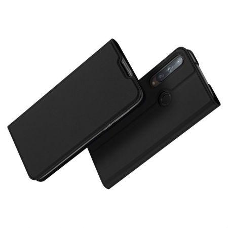 Тонкий Флип Чехол Книжка с Скрытым Магнитом и Отделением для Карты для Huawei P40 lite E Черный