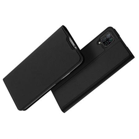 Тонкий Флип Чехол Книжка с Скрытым Магнитом и Отделением для Карты для Huawei P40 Lite / P40 Lite Черный