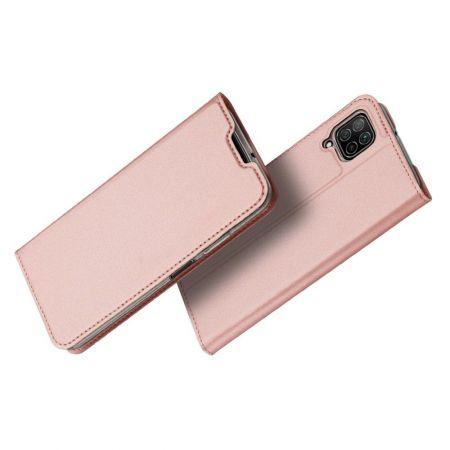 Тонкий Флип Чехол Книжка с Скрытым Магнитом и Отделением для Карты для Huawei P40 Lite / P40 Lite Розовый