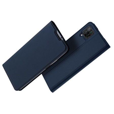 Тонкий Флип Чехол Книжка с Скрытым Магнитом и Отделением для Карты для Huawei P40 Lite / P40 Lite Синий