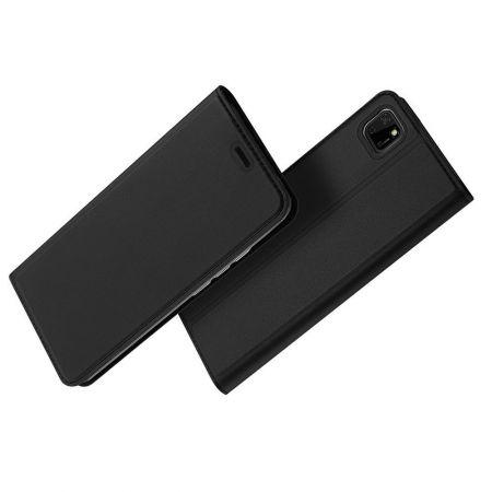 Тонкий Флип Чехол Книжка с Скрытым Магнитом и Отделением для Карты для Huawei Y5p / Honor 9S Черный
