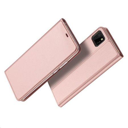Тонкий Флип Чехол Книжка с Скрытым Магнитом и Отделением для Карты для Huawei Y5p / Honor 9S Розовый