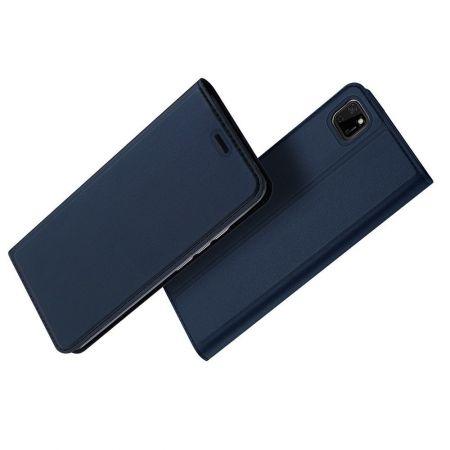 Тонкий Флип Чехол Книжка с Скрытым Магнитом и Отделением для Карты для Huawei Y5p / Honor 9S Синий