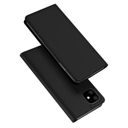 Тонкий Флип Чехол Книжка с Скрытым Магнитом и Отделением для Карты для iPhone 11 Черный