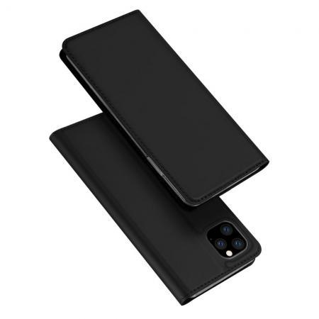 Тонкий Флип Чехол Книжка с Скрытым Магнитом и Отделением для Карты для iPhone 11 Pro Max Черный
