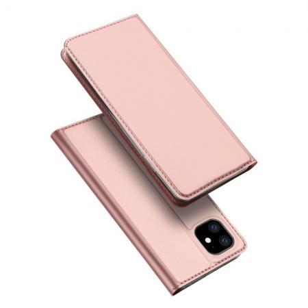 Тонкий Флип Чехол Книжка с Скрытым Магнитом и Отделением для Карты для iPhone 11 Розовый