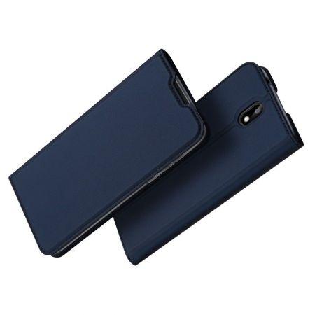 Тонкий Флип Чехол Книжка с Скрытым Магнитом и Отделением для Карты для Nokia 1.3 Синий