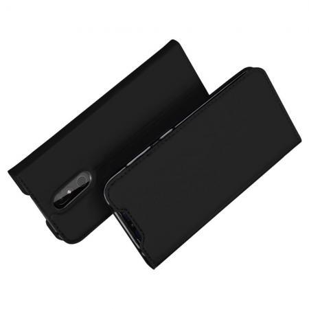 Тонкий Флип Чехол Книжка с Скрытым Магнитом и Отделением для Карты для Nokia 3.2 Черный