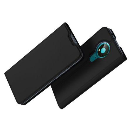 Тонкий Флип Чехол Книжка с Скрытым Магнитом и Отделением для Карты для Nokia 3.4 Черный