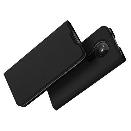 Тонкий Флип Чехол Книжка с Скрытым Магнитом и Отделением для Карты для Nokia 5.3 Черный
