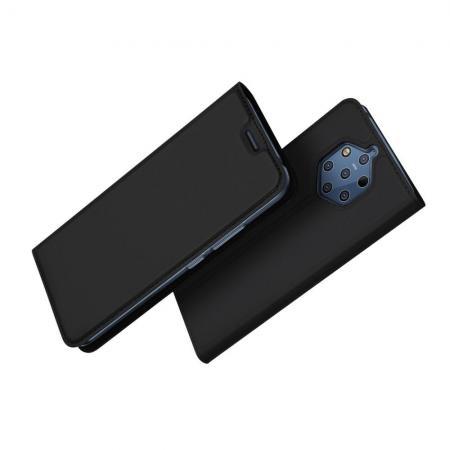 Тонкий Флип Чехол Книжка с Скрытым Магнитом и Отделением для Карты для Nokia 9 PureView Черный