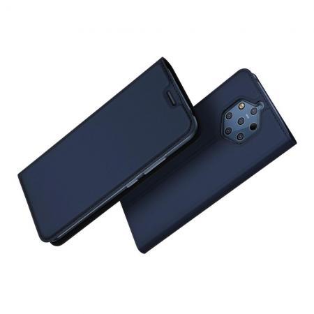 Тонкий Флип Чехол Книжка с Скрытым Магнитом и Отделением для Карты для Nokia 9 PureView Синий