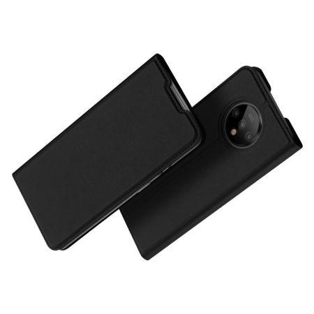 Тонкий Флип Чехол Книжка с Скрытым Магнитом и Отделением для Карты для OnePlus 7T Черный