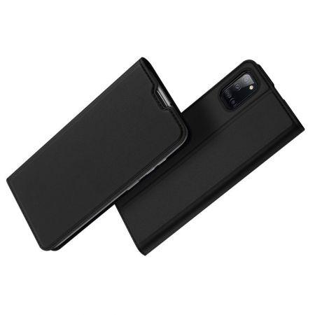 Тонкий Флип Чехол Книжка с Скрытым Магнитом и Отделением для Карты для Samsung Galaxy A31 Черный