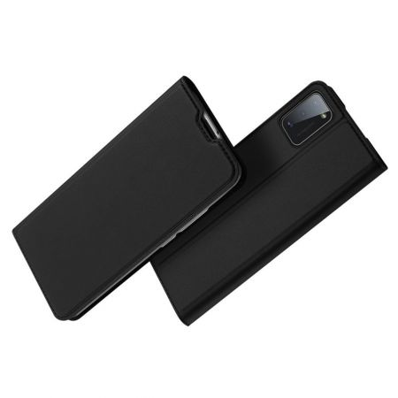 Тонкий Флип Чехол Книжка с Скрытым Магнитом и Отделением для Карты для Samsung Galaxy A41 Черный