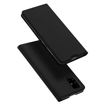 Тонкий Флип Чехол Книжка с Скрытым Магнитом и Отделением для Карты для Samsung Galaxy A51 Черный