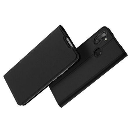 Тонкий Флип Чехол Книжка с Скрытым Магнитом и Отделением для Карты для Samsung Galaxy M11 Черный