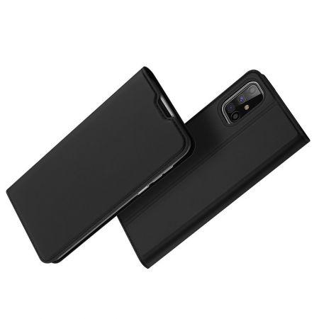 Тонкий Флип Чехол Книжка с Скрытым Магнитом и Отделением для Карты для Samsung Galaxy M31s Черный