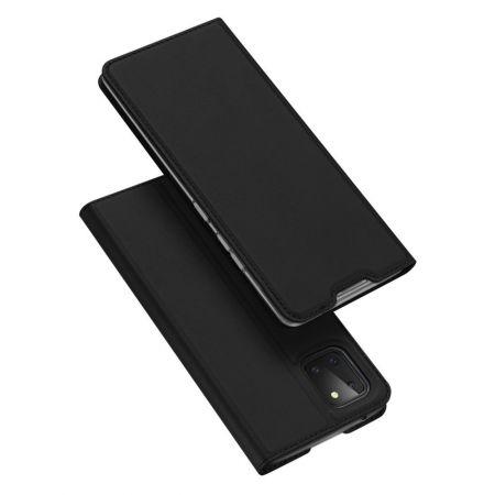 Тонкий Флип Чехол Книжка с Скрытым Магнитом и Отделением для Карты для Samsung Galaxy Note 10 Lite Черный
