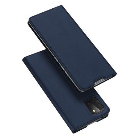 Тонкий Флип Чехол Книжка с Скрытым Магнитом и Отделением для Карты для Samsung Galaxy Note 10 Lite Синий