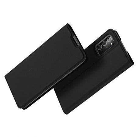 Тонкий Флип Чехол Книжка с Скрытым Магнитом и Отделением для Карты для Samsung Galaxy Note 20 Черный