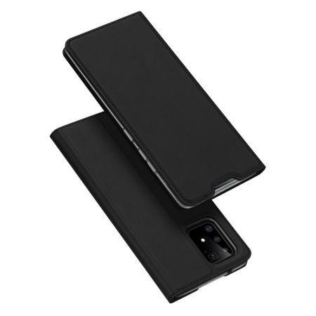 Тонкий Флип Чехол Книжка с Скрытым Магнитом и Отделением для Карты для Samsung Galaxy S10 Lite Черный