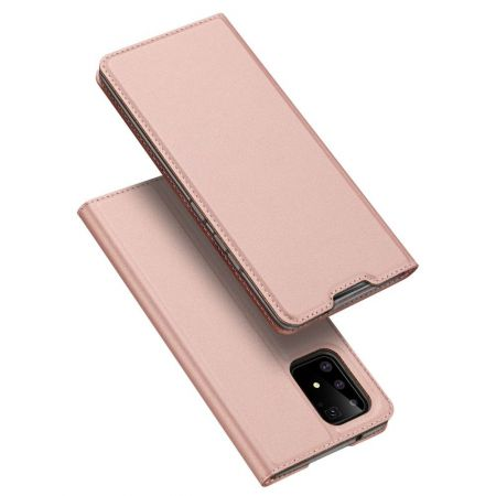 Тонкий Флип Чехол Книжка с Скрытым Магнитом и Отделением для Карты для Samsung Galaxy S10 Lite Розовый