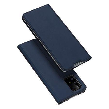 Тонкий Флип Чехол Книжка с Скрытым Магнитом и Отделением для Карты для Samsung Galaxy S10 Lite Синий