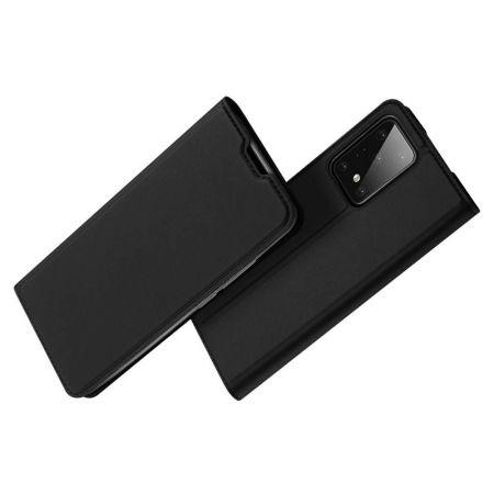 Тонкий Флип Чехол Книжка с Скрытым Магнитом и Отделением для Карты для Samsung Galaxy S20 Plus Черный