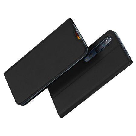 Тонкий Флип Чехол Книжка с Скрытым Магнитом и Отделением для Карты для Xiaomi Mi 10 / Mi 10 Pro / 10 Pro Черный