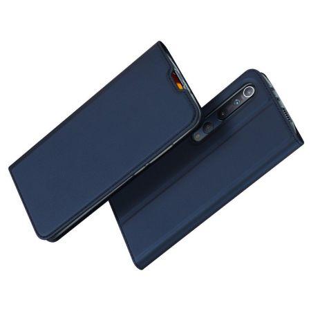Тонкий Флип Чехол Книжка с Скрытым Магнитом и Отделением для Карты для Xiaomi Mi 10 / Mi 10 Pro / 10 Pro Синий