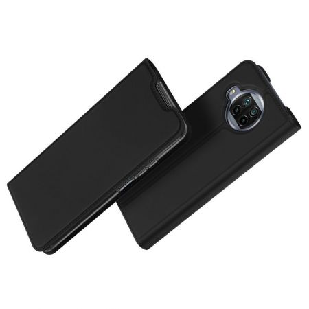 Тонкий Флип Чехол Книжка с Скрытым Магнитом и Отделением для Карты для Xiaomi Mi 10T Lite Черный