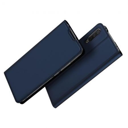 Тонкий Флип Чехол Книжка с Скрытым Магнитом и Отделением для Карты для Xiaomi Mi A3 Синий