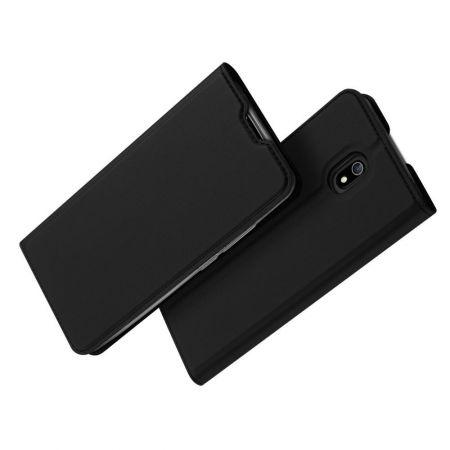 Тонкий Флип Чехол Книжка с Скрытым Магнитом и Отделением для Карты для Xiaomi Redmi 8A Черный